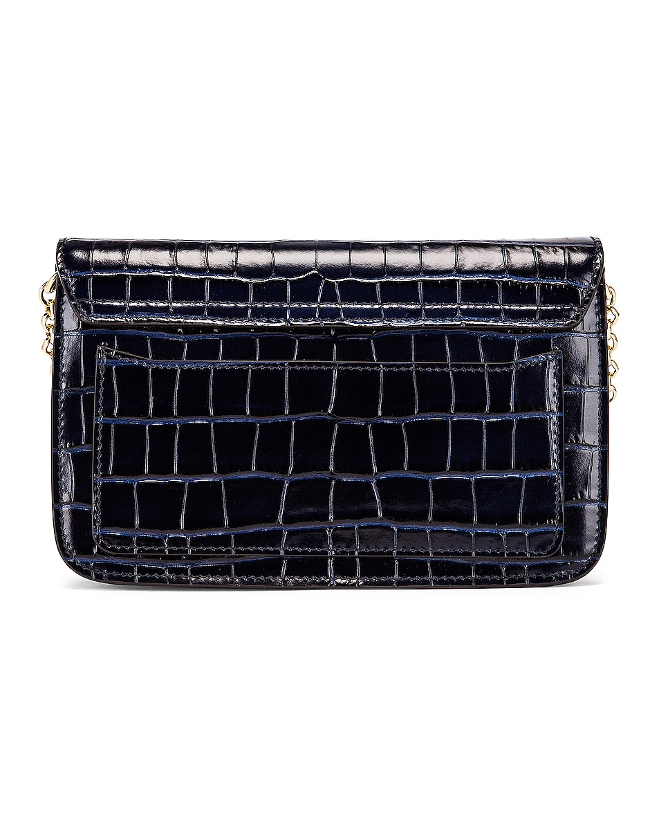 Image 3 of Chloe C Embossed Croco Clutch Bag in Full Blue