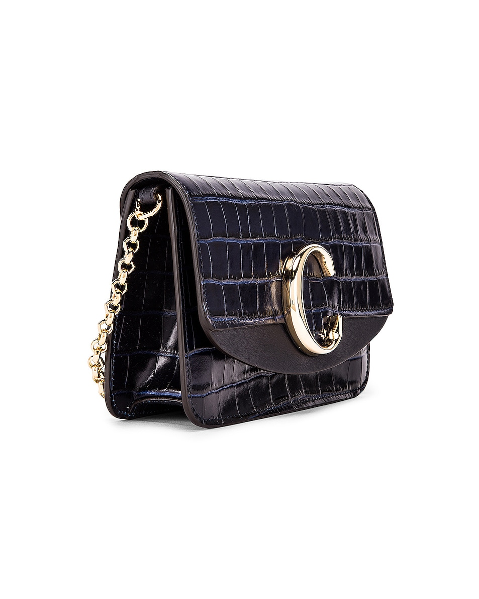 Image 4 of Chloe C Embossed Croco Clutch Bag in Full Blue