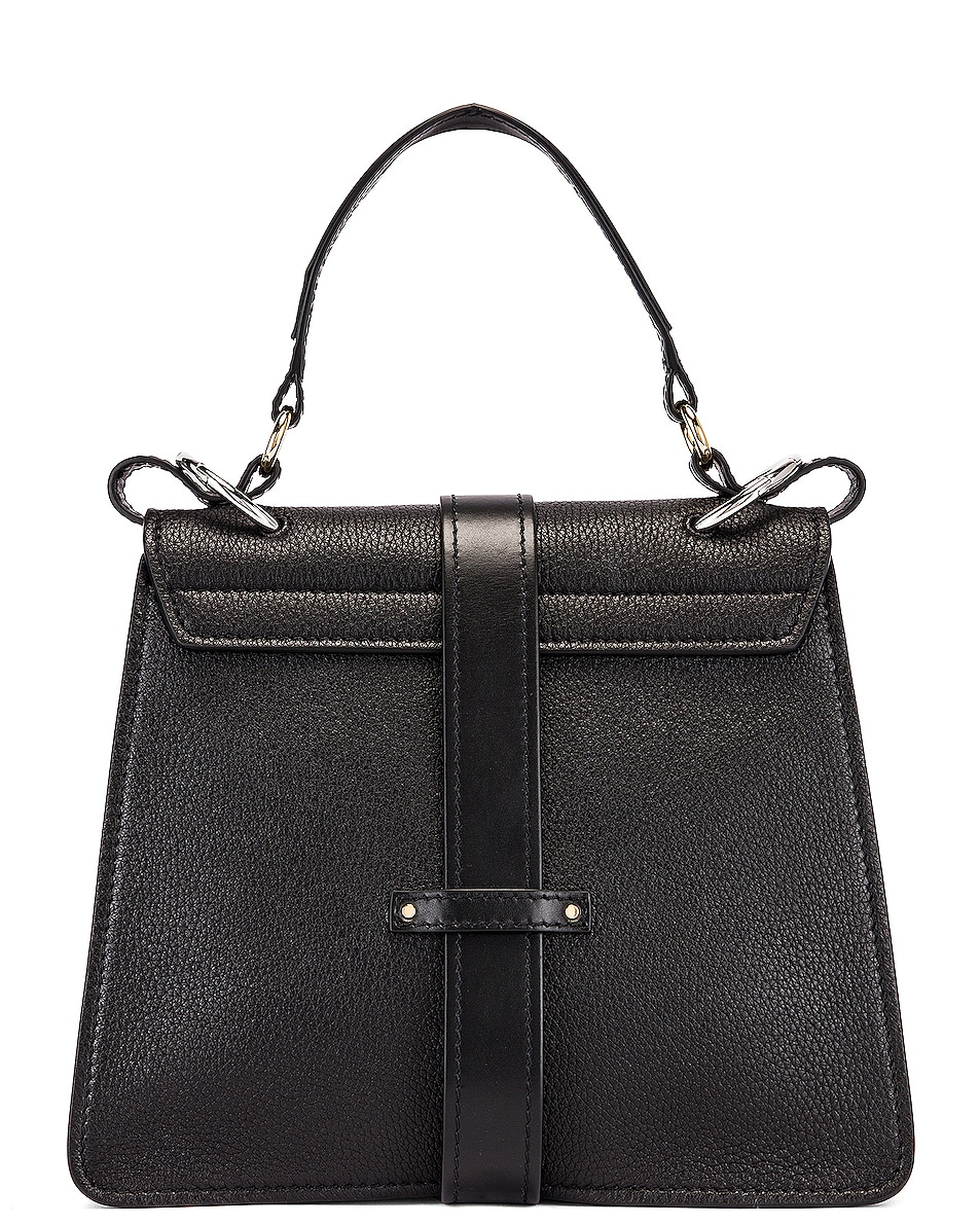 Image 3 of Chloe Medium Aby Leather Bag in Black
