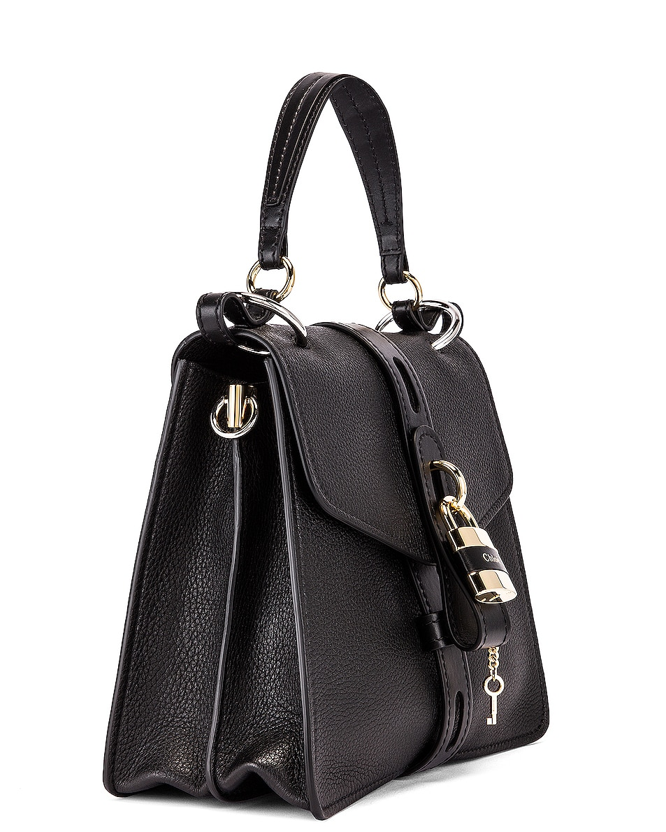 Image 4 of Chloe Medium Aby Leather Bag in Black