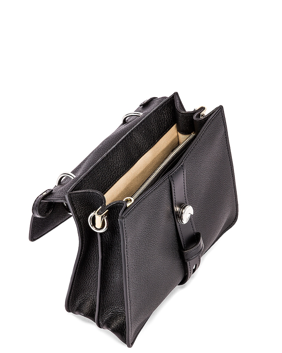 Image 5 of Chloe Medium Aby Leather Bag in Black