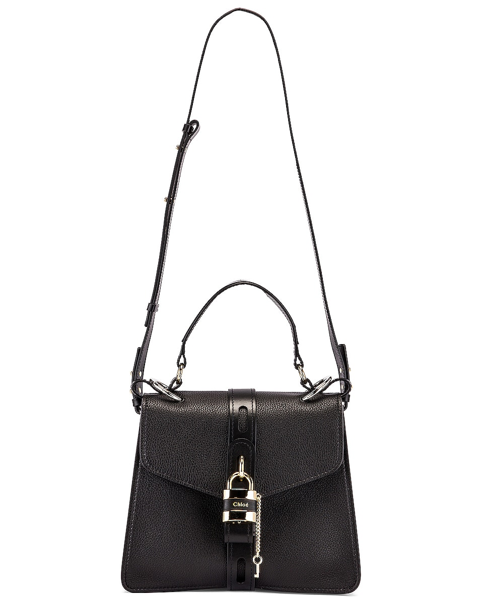 Image 6 of Chloe Medium Aby Leather Bag in Black