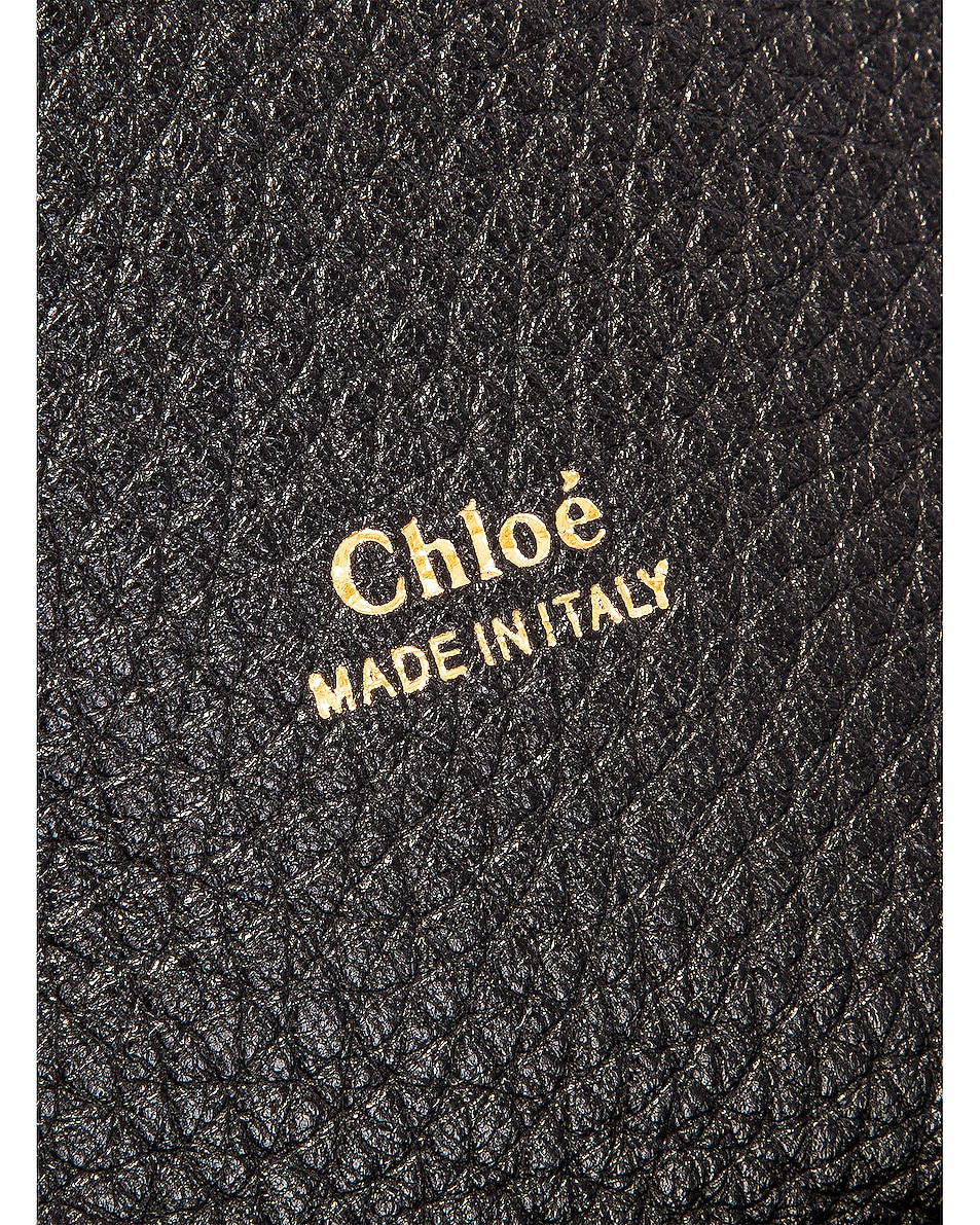 Image 7 of Chloe Medium Aby Leather Bag in Black