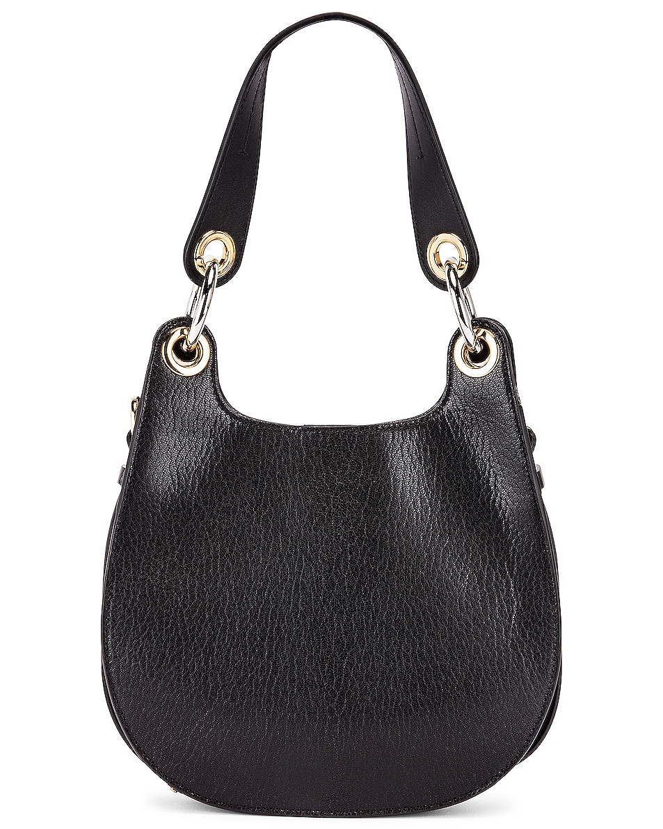 Image 3 of Chloe Small Tess Leather Hobo Bag in Black