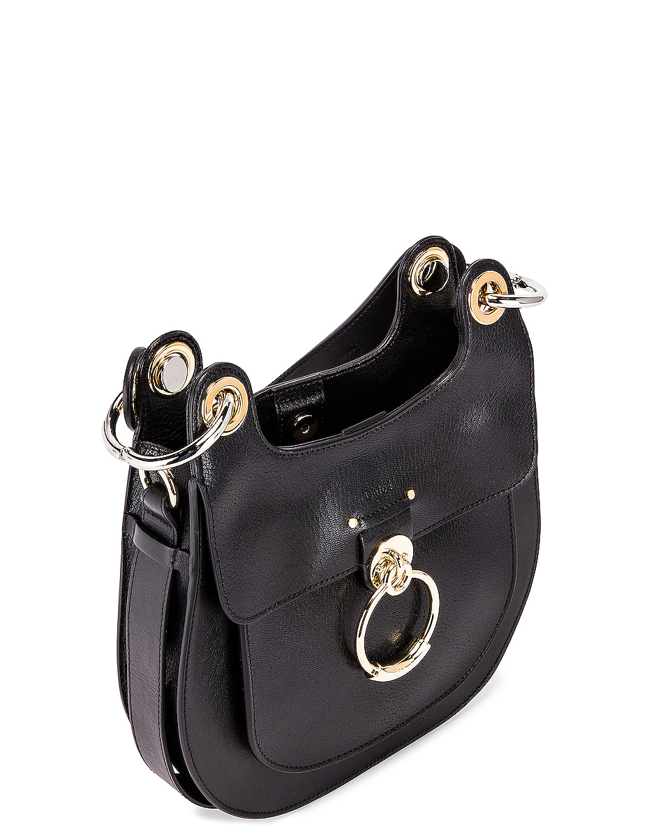 Image 5 of Chloe Small Tess Leather Hobo Bag in Black