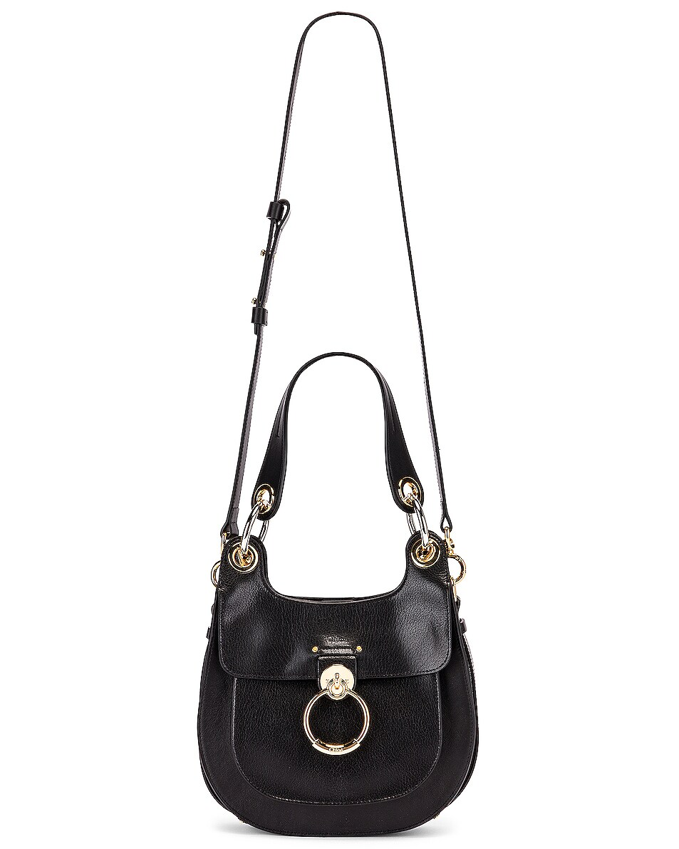 Image 6 of Chloe Small Tess Leather Hobo Bag in Black