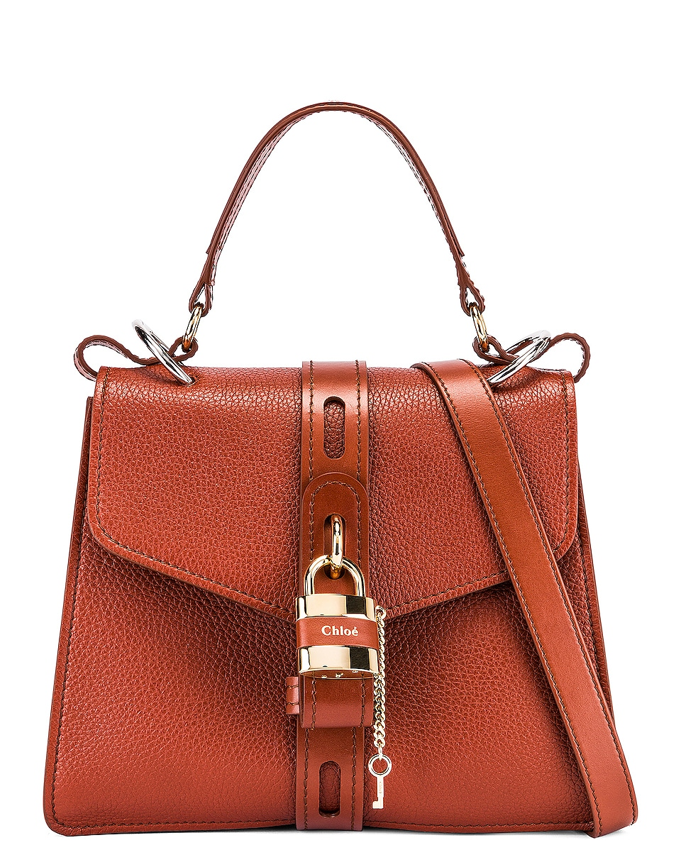Image 1 of Chloe Medium Aby Leather Bag in Sepia Brown