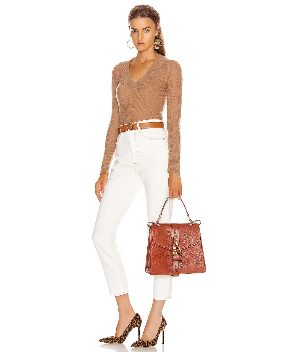 Image 2 of Chloe Medium Aby Leather Bag in Sepia Brown