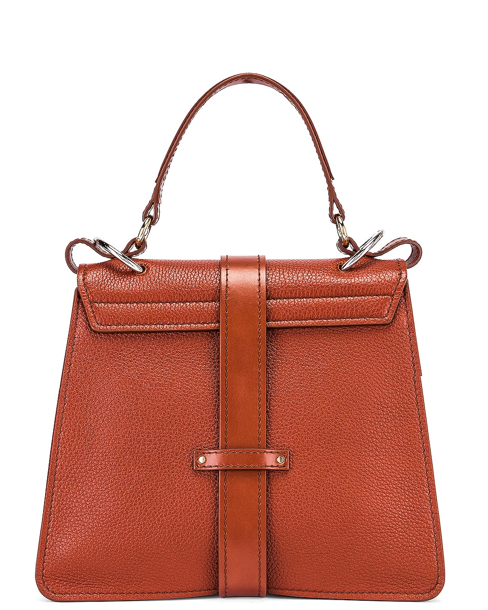Image 3 of Chloe Medium Aby Leather Bag in Sepia Brown
