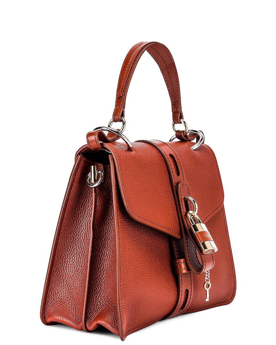 Image 4 of Chloe Medium Aby Leather Bag in Sepia Brown