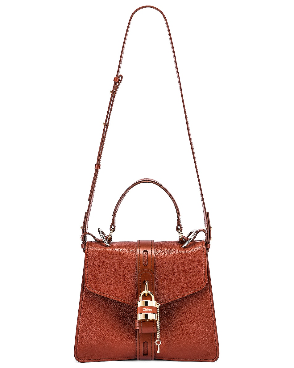 Image 6 of Chloe Medium Aby Leather Bag in Sepia Brown