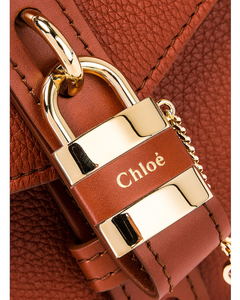 Image 8 of Chloe Medium Aby Leather Bag in Sepia Brown