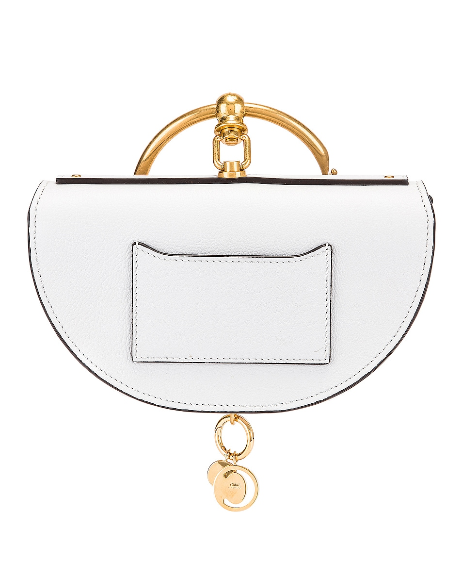 Image 3 of Chloe Small Nile Leather Minaudiere in Light Cloud
