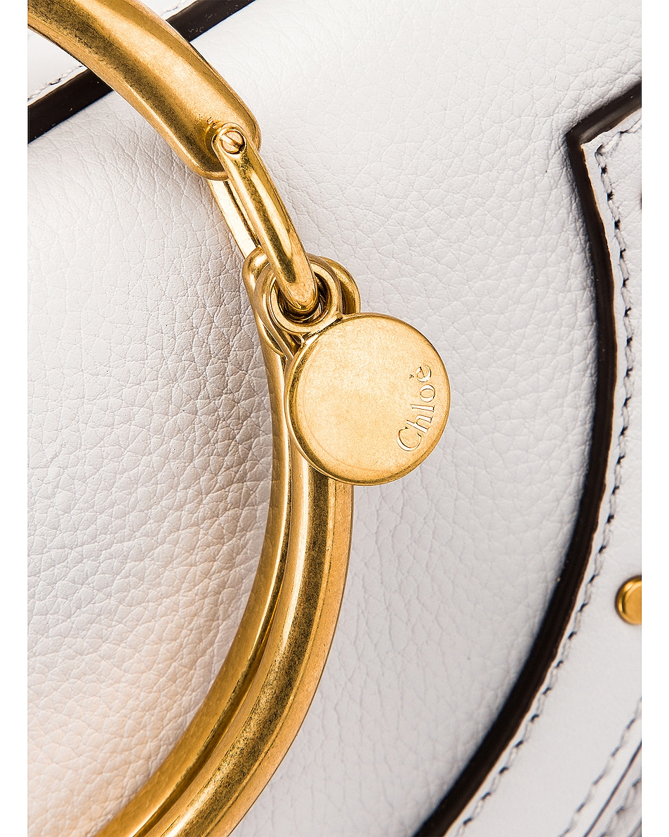 Image 8 of Chloe Small Nile Leather Minaudiere in Light Cloud