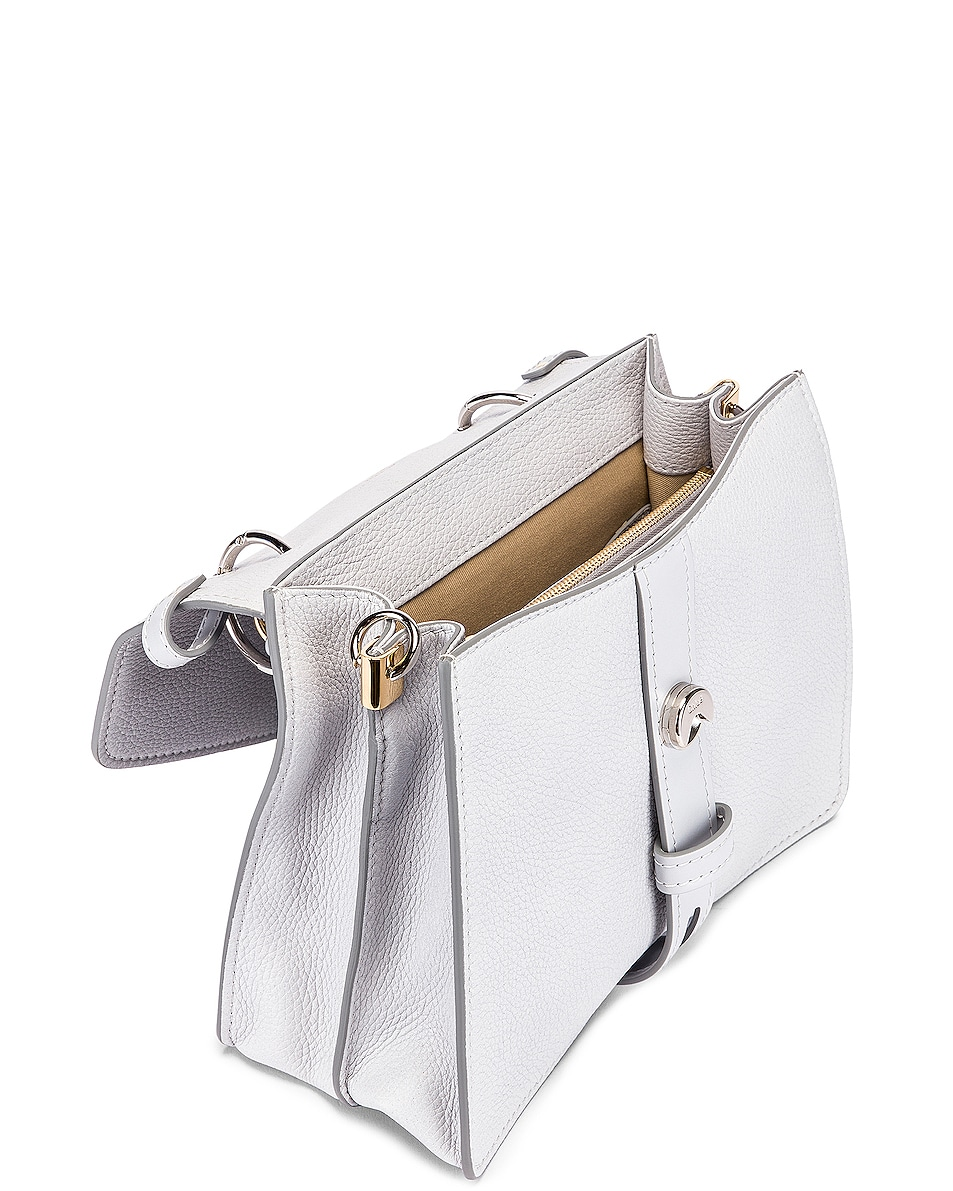 Image 4 of Chloe Medium Aby Leather Bag in Light Cloud