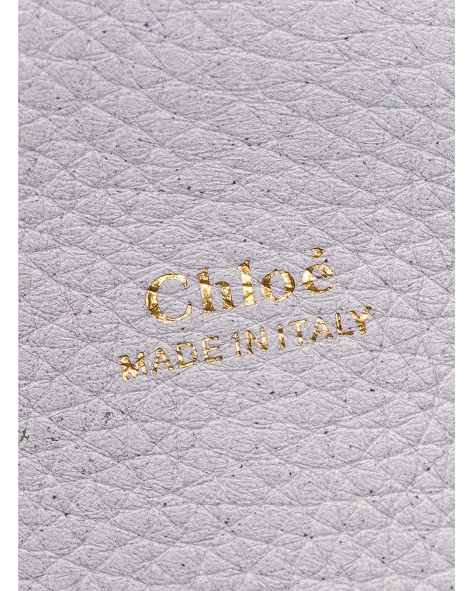 Image 6 of Chloe Medium Aby Leather Bag in Light Cloud