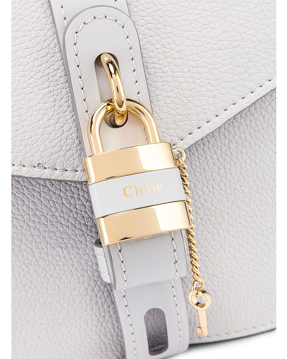 Image 7 of Chloe Medium Aby Leather Bag in Light Cloud