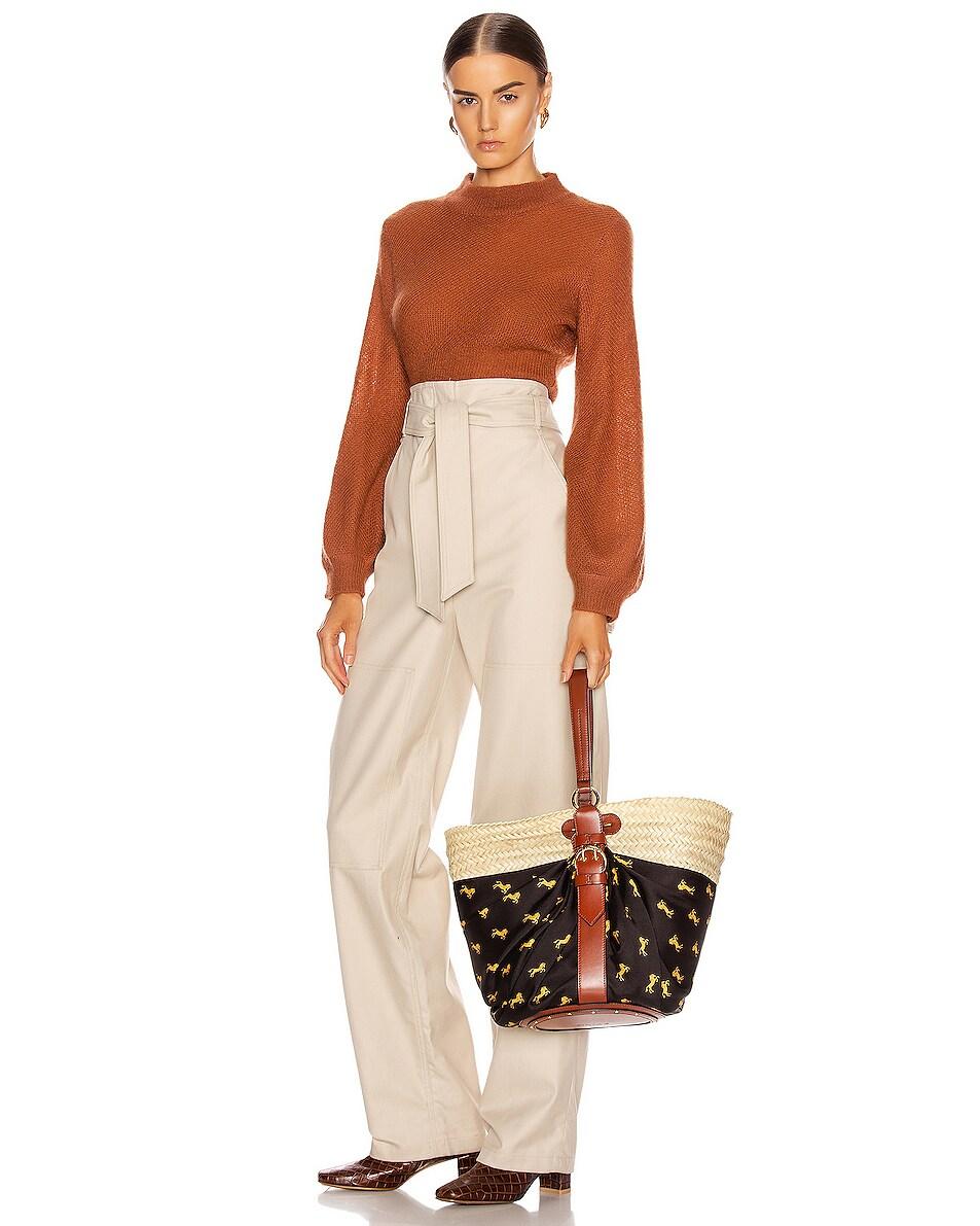 Image 2 of Chloe Medium Panier Basket Bag in Black & Yellow