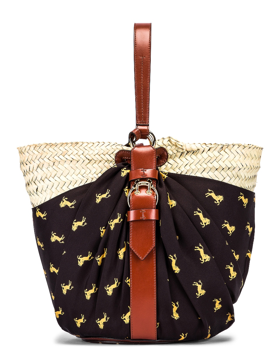 Image 3 of Chloe Medium Panier Basket Bag in Black & Yellow
