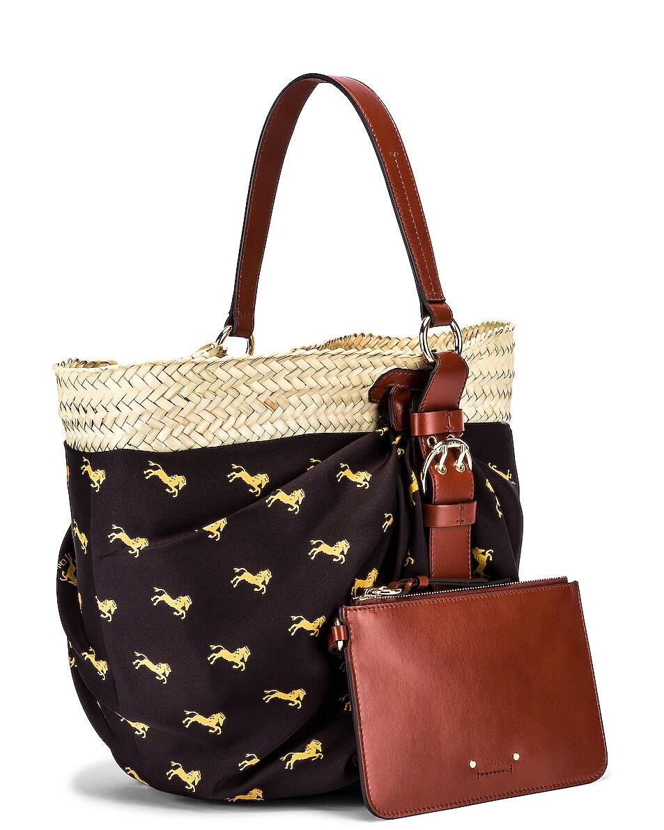 Image 4 of Chloe Medium Panier Basket Bag in Black & Yellow