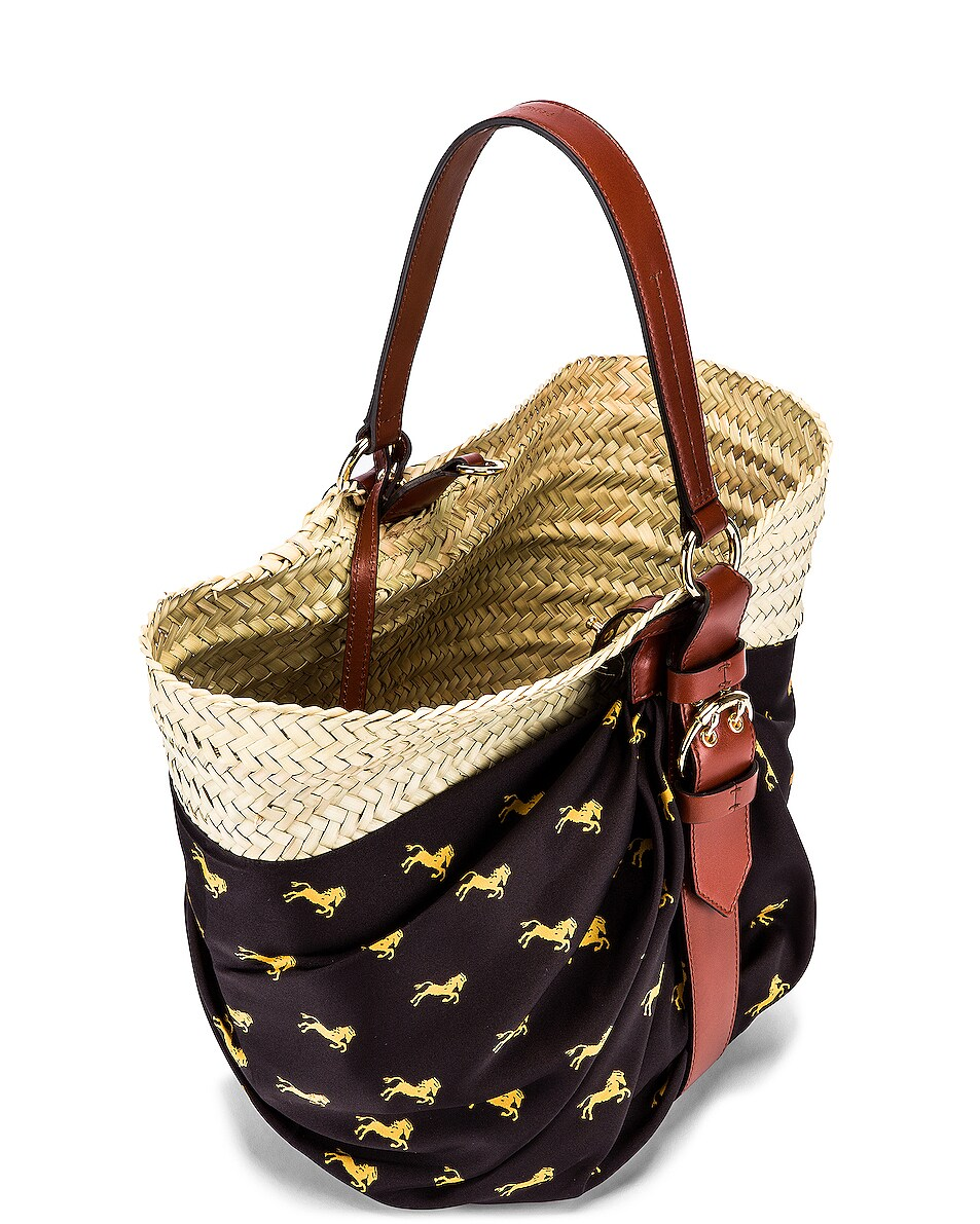 Image 5 of Chloe Medium Panier Basket Bag in Black & Yellow