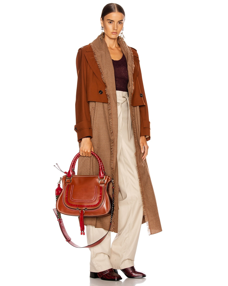 Image 2 of Chloe Medium Marcie Double Carry Bag in Sepia Brown