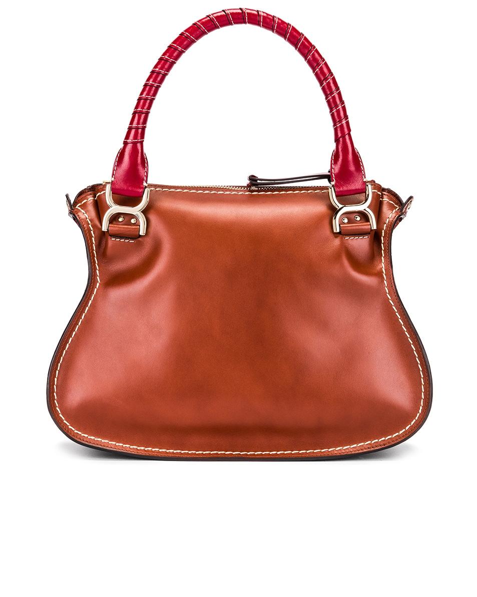 Image 3 of Chloe Medium Marcie Double Carry Bag in Sepia Brown