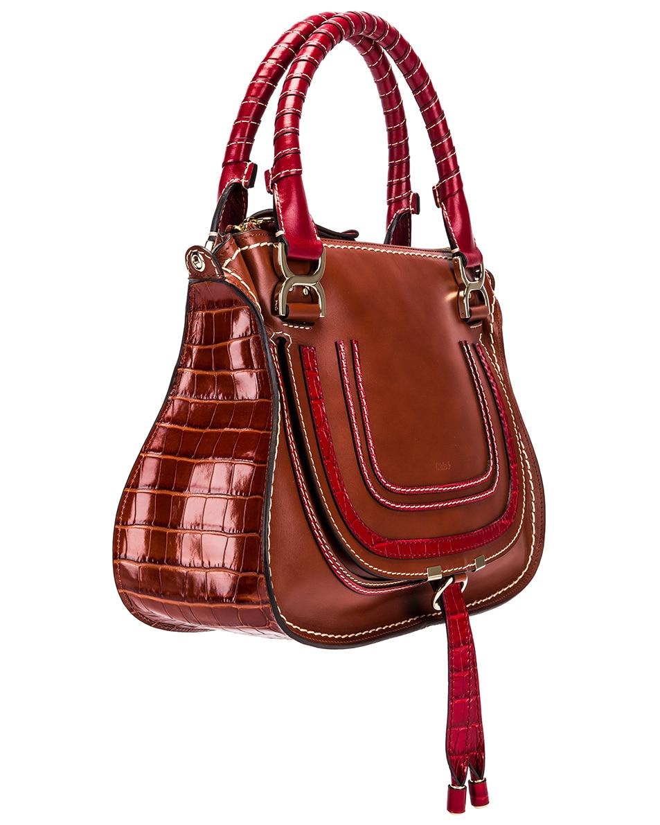 Image 4 of Chloe Medium Marcie Double Carry Bag in Sepia Brown