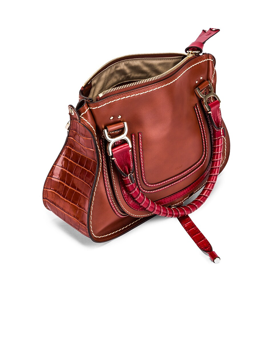 Image 5 of Chloe Medium Marcie Double Carry Bag in Sepia Brown