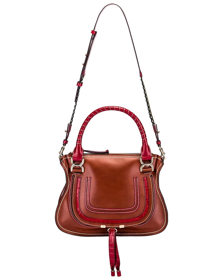 Image 6 of Chloe Medium Marcie Double Carry Bag in Sepia Brown