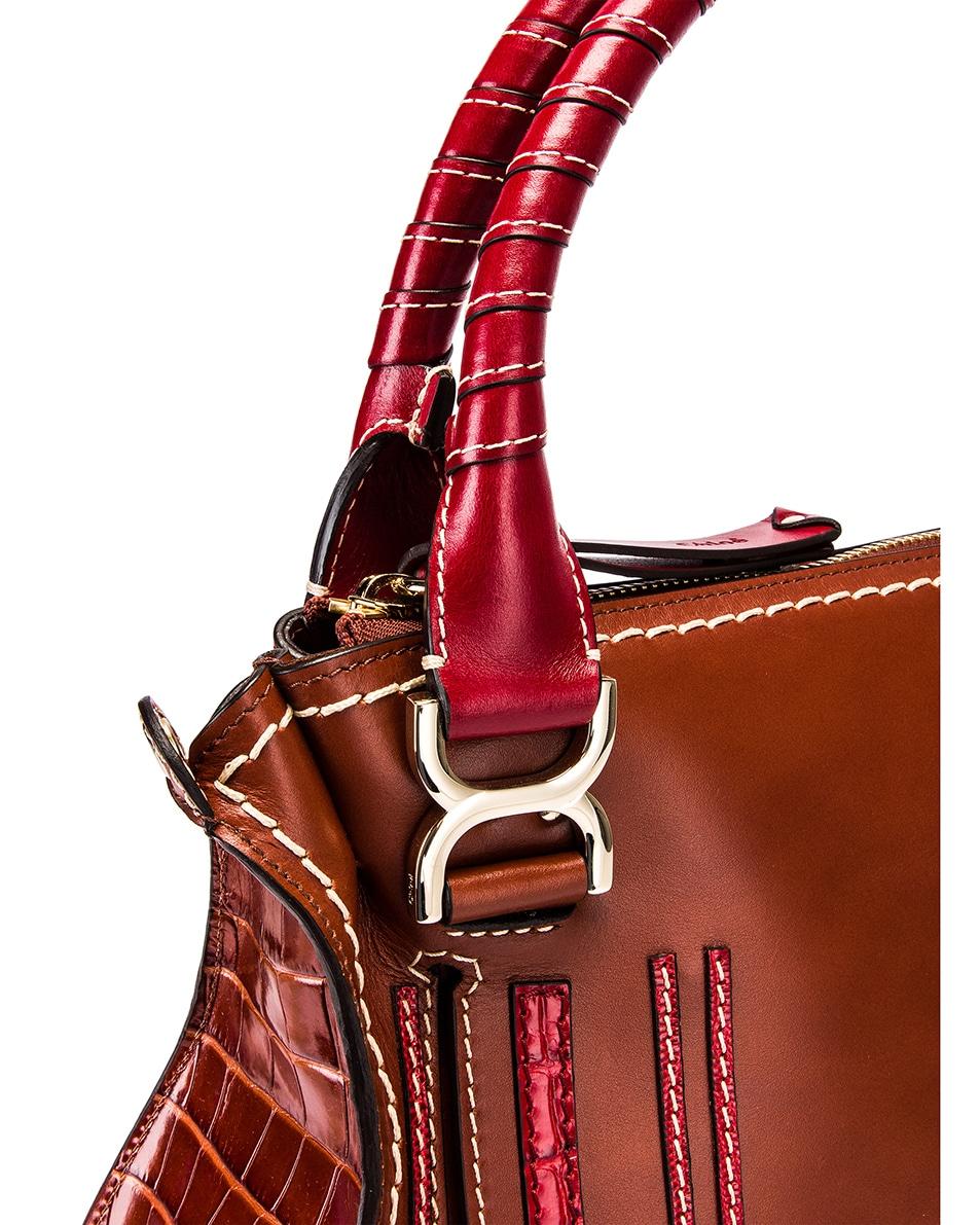Image 8 of Chloe Medium Marcie Double Carry Bag in Sepia Brown