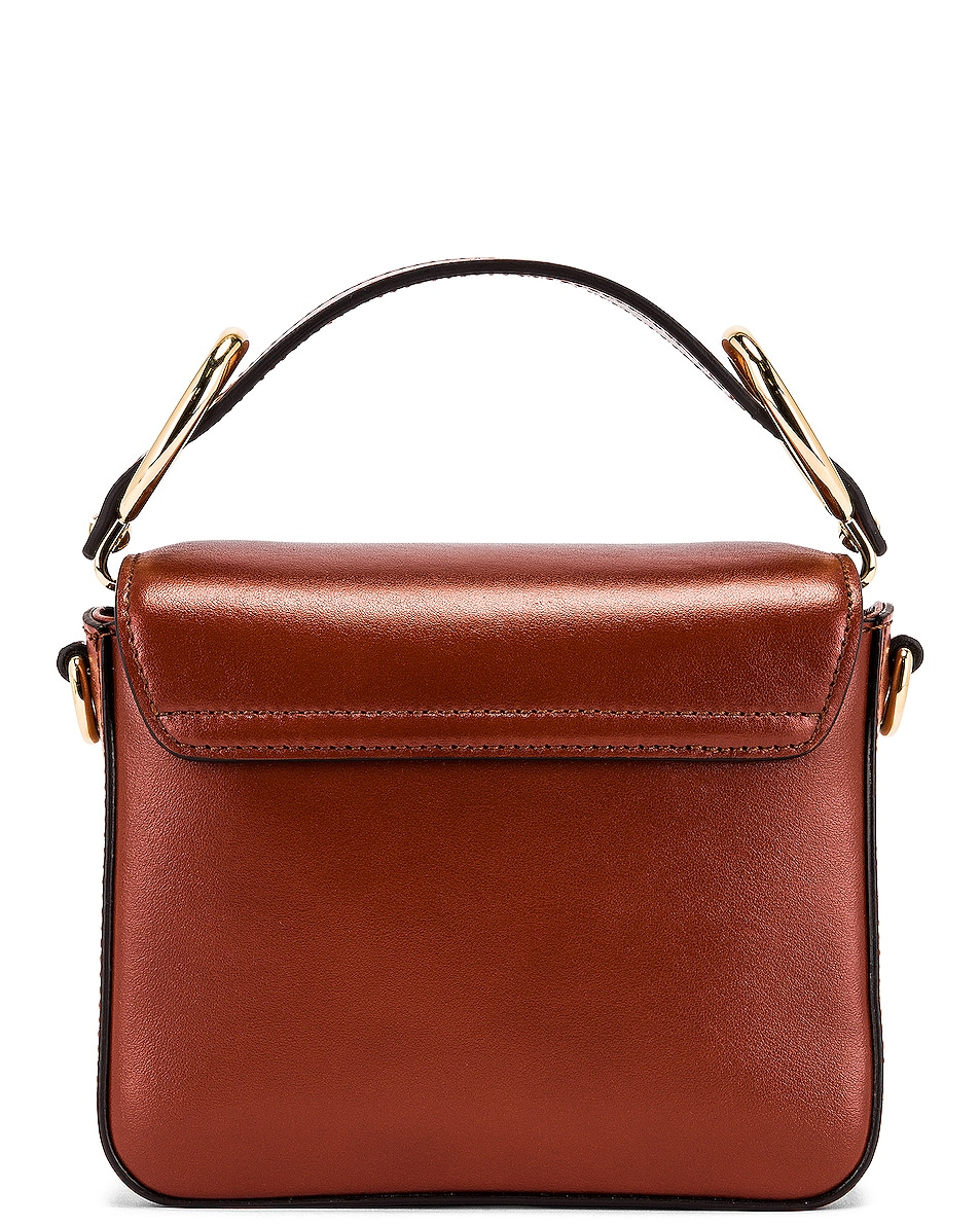 Image 3 of Chloe Mini C Box Bag in Sepia Brown