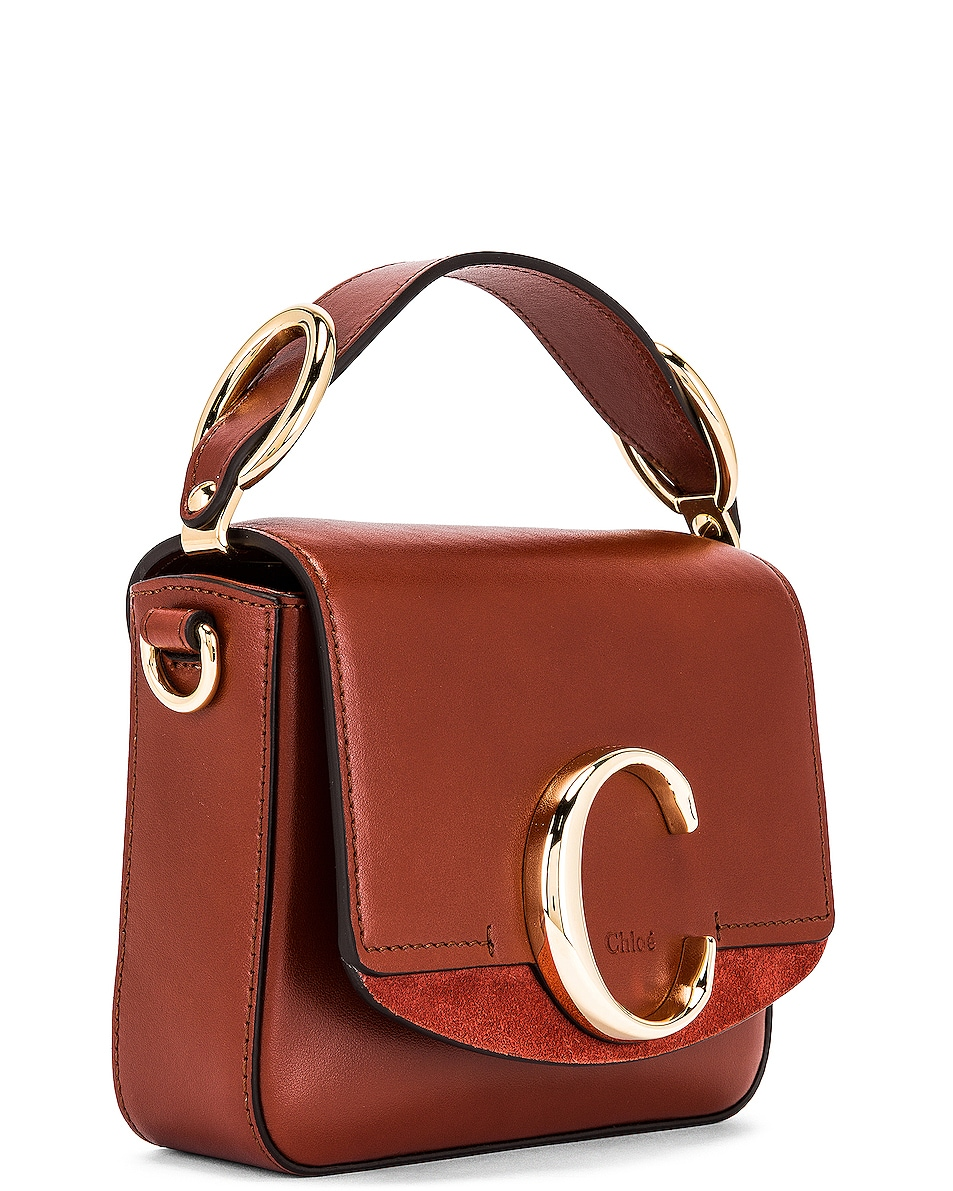 Image 4 of Chloe Mini C Box Bag in Sepia Brown