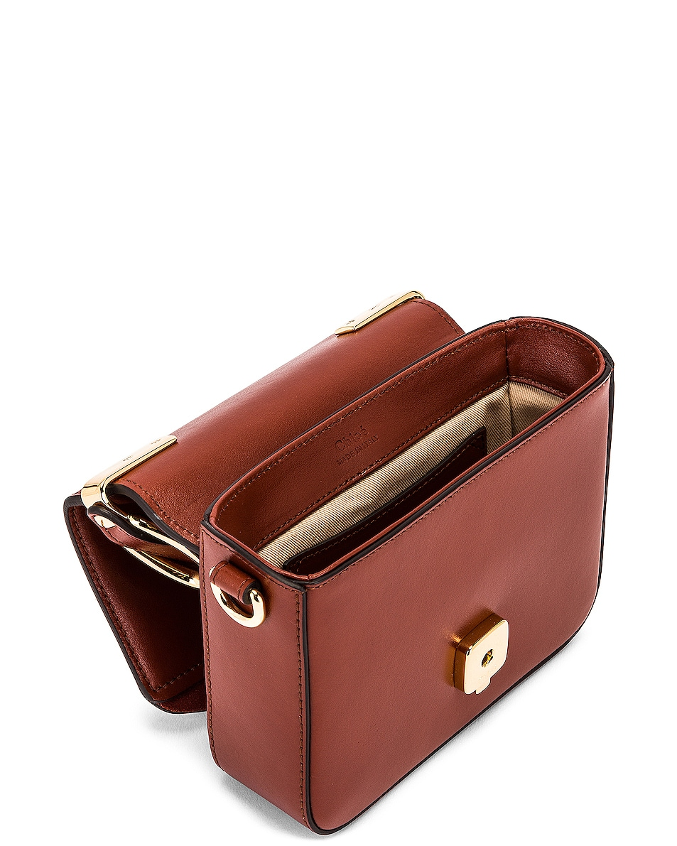 Image 5 of Chloe Mini C Box Bag in Sepia Brown