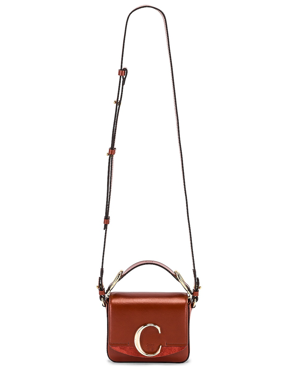 Image 6 of Chloe Mini C Box Bag in Sepia Brown