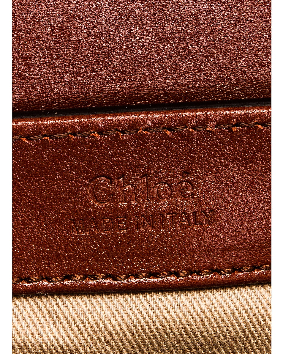 Image 7 of Chloe Mini C Box Bag in Sepia Brown