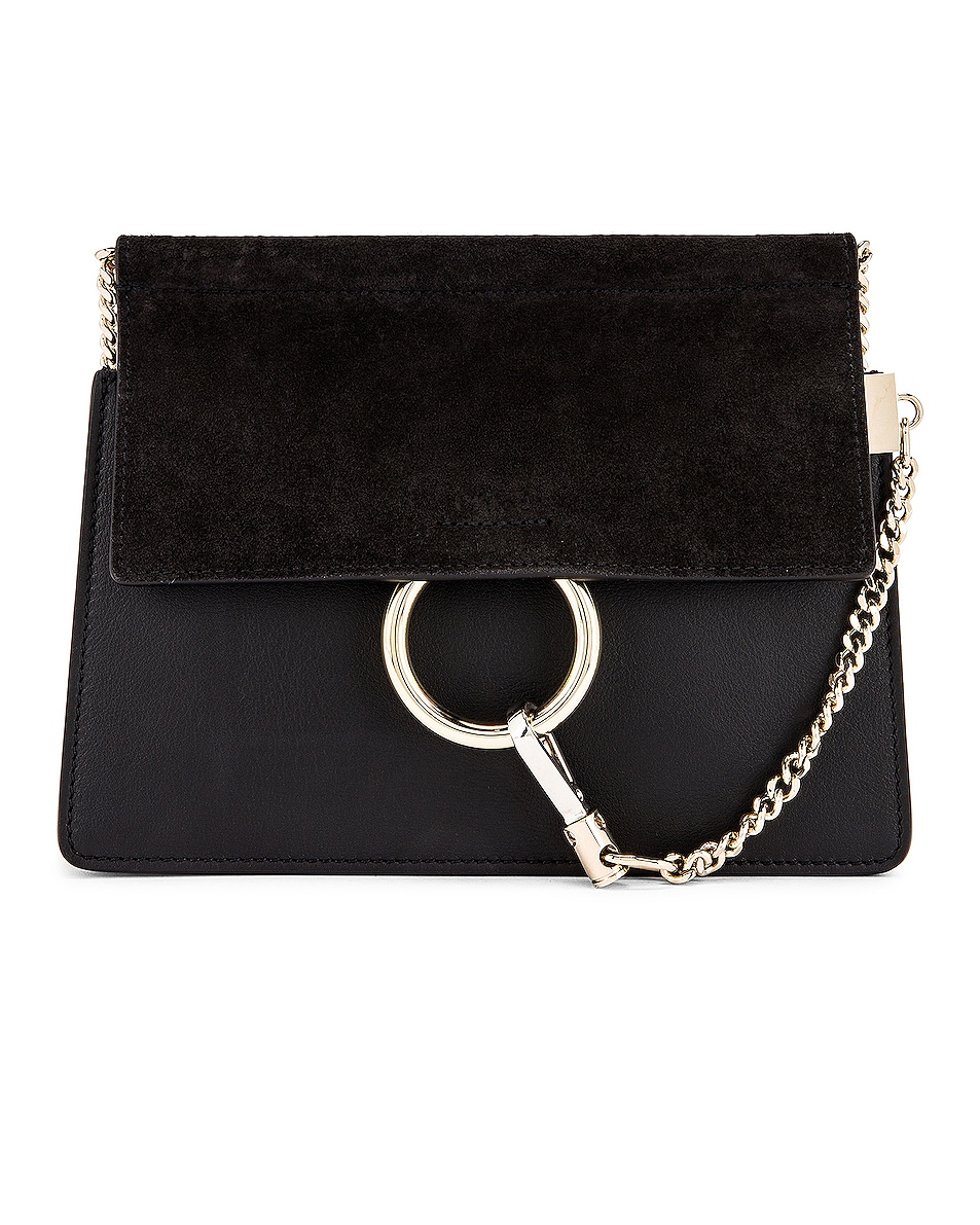 Image 1 of Chloe Mini Faye Shoulder Bag in Black