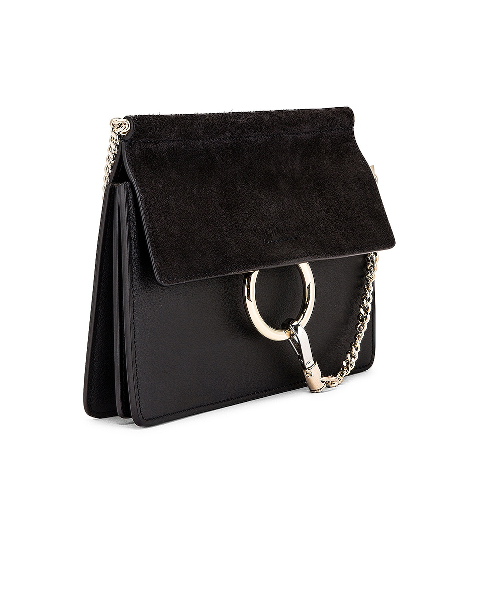 Image 4 of Chloe Mini Faye Shoulder Bag in Black