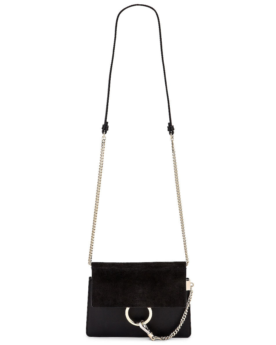 Image 6 of Chloe Mini Faye Shoulder Bag in Black