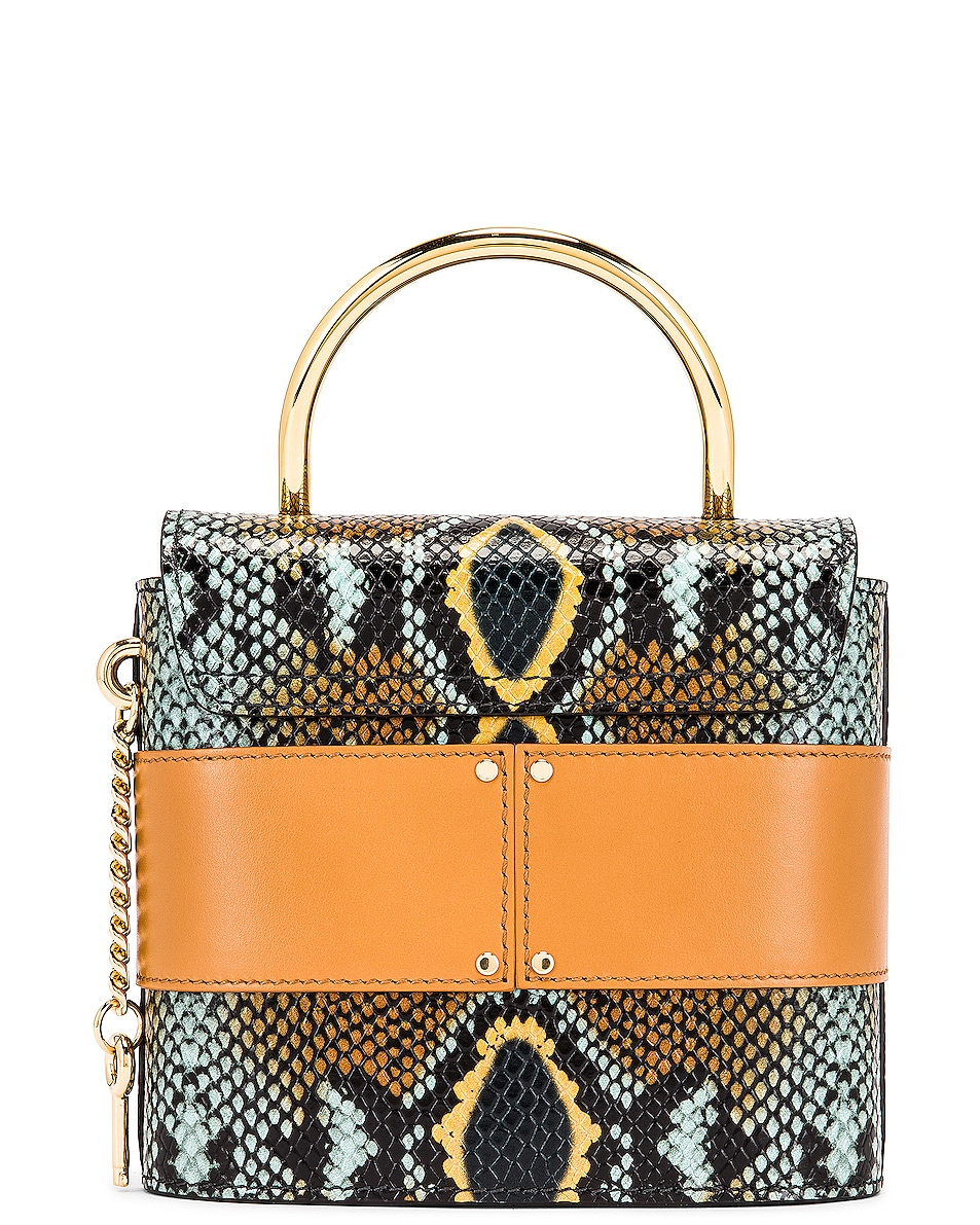 Image 3 of Chloe Abylock Embossed Croc Crossbody Bag in Faded Blue