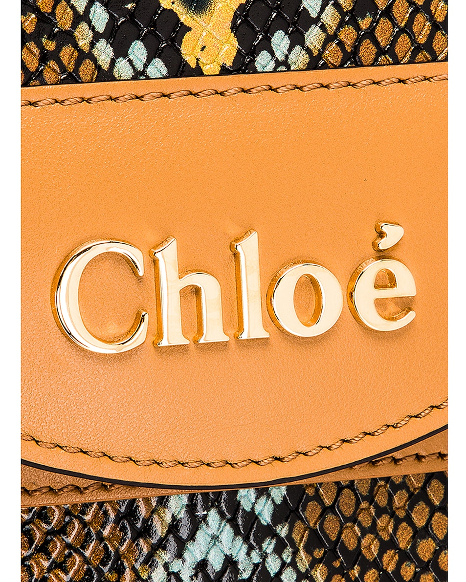 Image 8 of Chloe Abylock Embossed Croc Crossbody Bag in Faded Blue