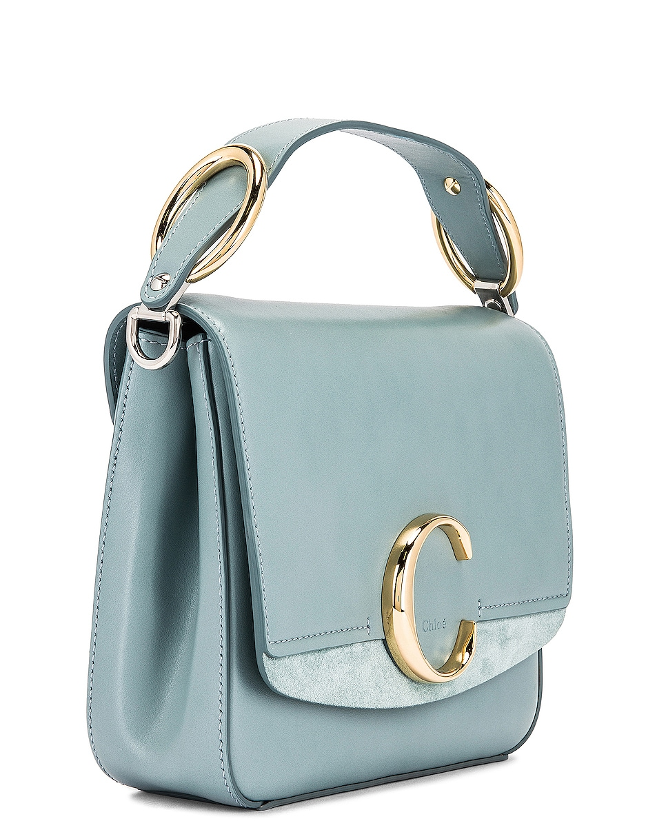 Image 4 of Chloe Small C Box Bag in Faded Blue
