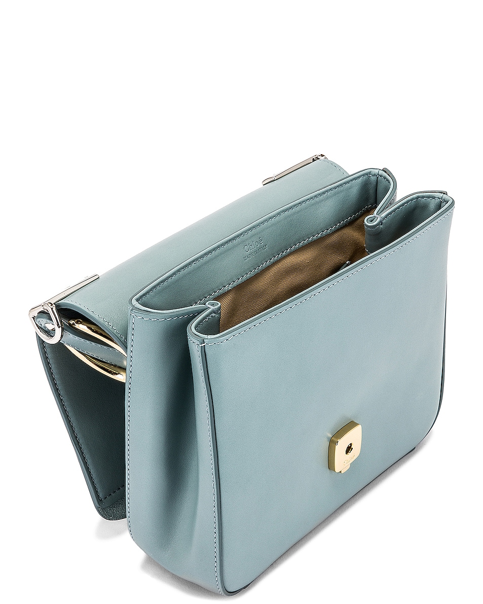 Image 5 of Chloe Small C Box Bag in Faded Blue