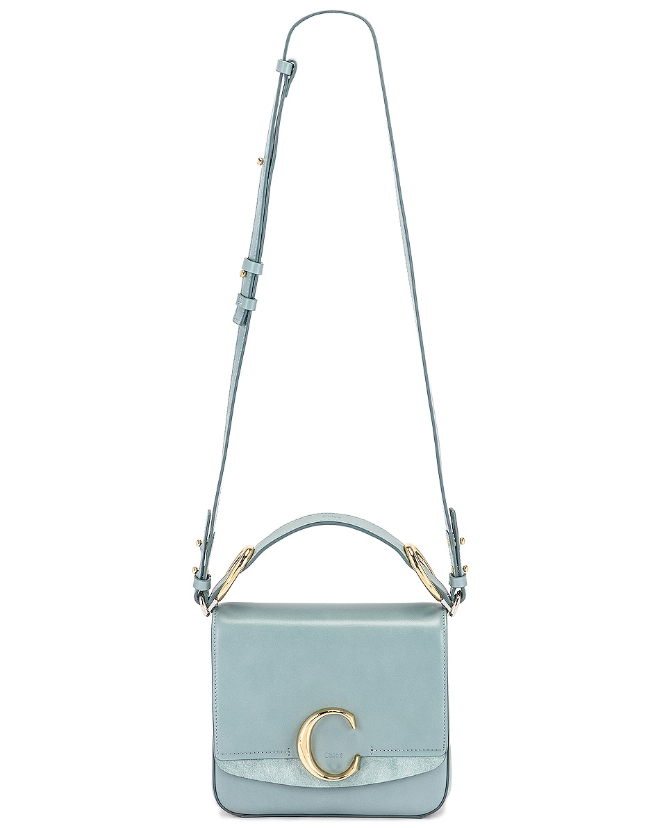 Image 6 of Chloe Small C Box Bag in Faded Blue