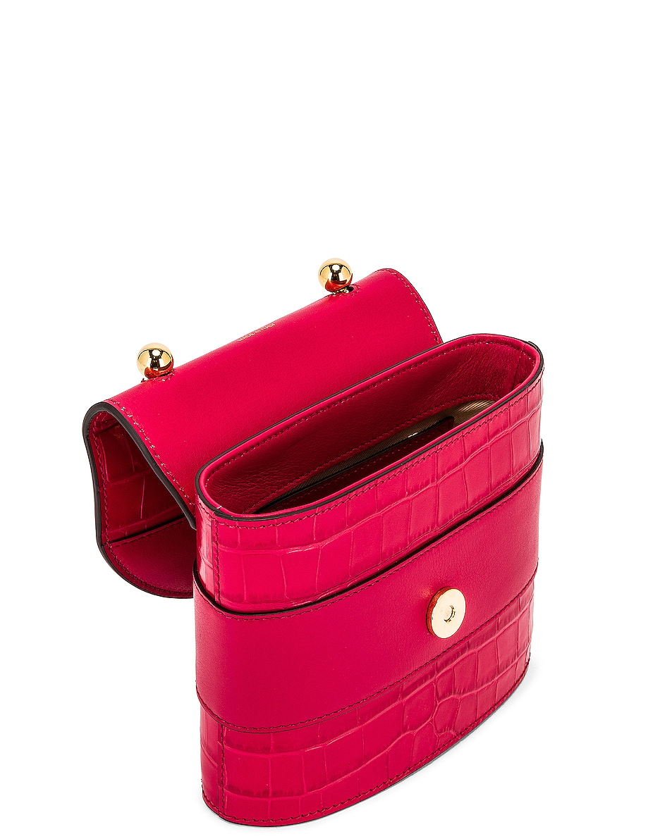 Image 5 of Chloe Small Abylock Embossed Croc Padlock Bag in Crimson Pink