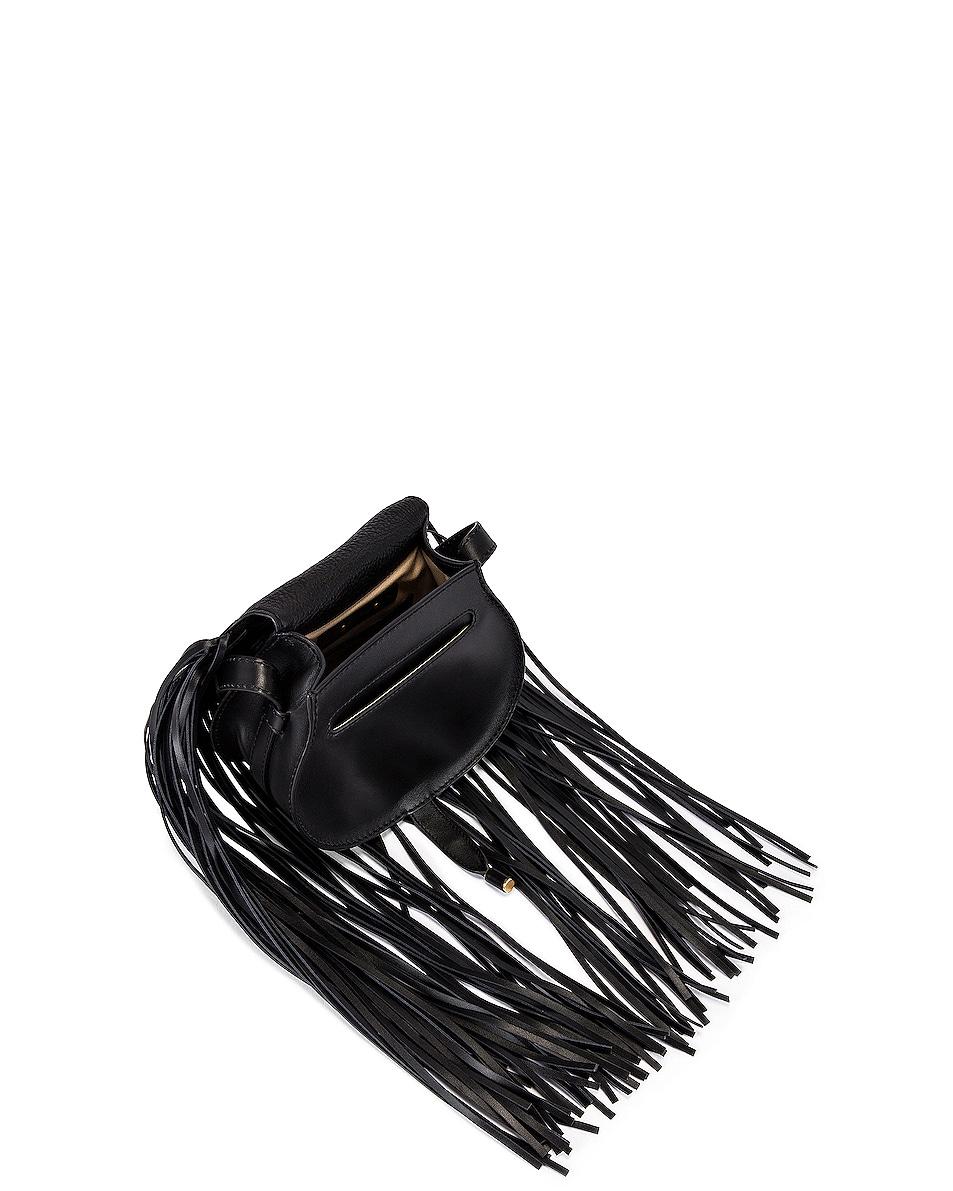 Image 5 of Chloe Small Marcie Fringe Saddle Bag in Black