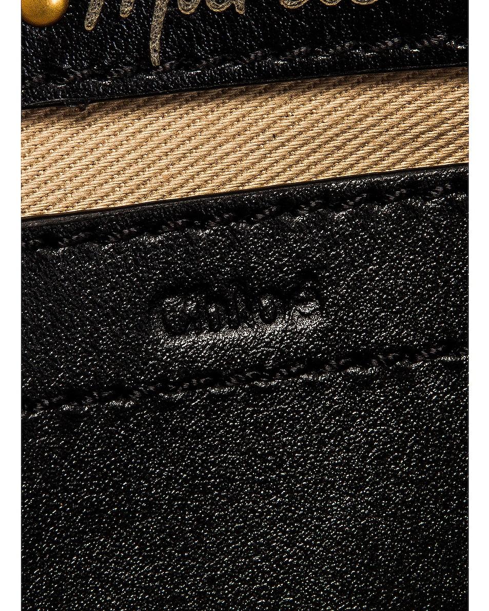 Image 6 of Chloe Small Marcie Fringe Saddle Bag in Black