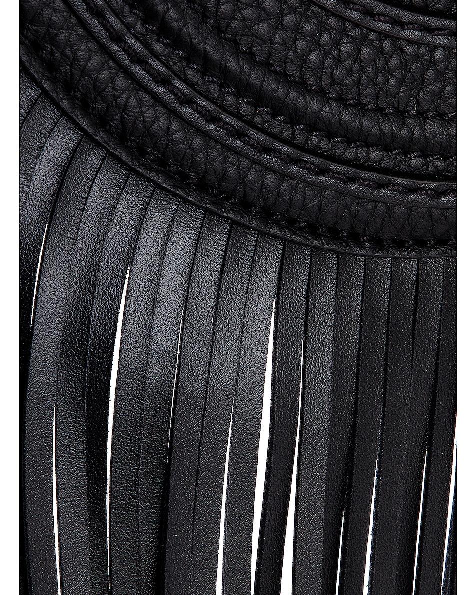 Image 7 of Chloe Small Marcie Fringe Saddle Bag in Black