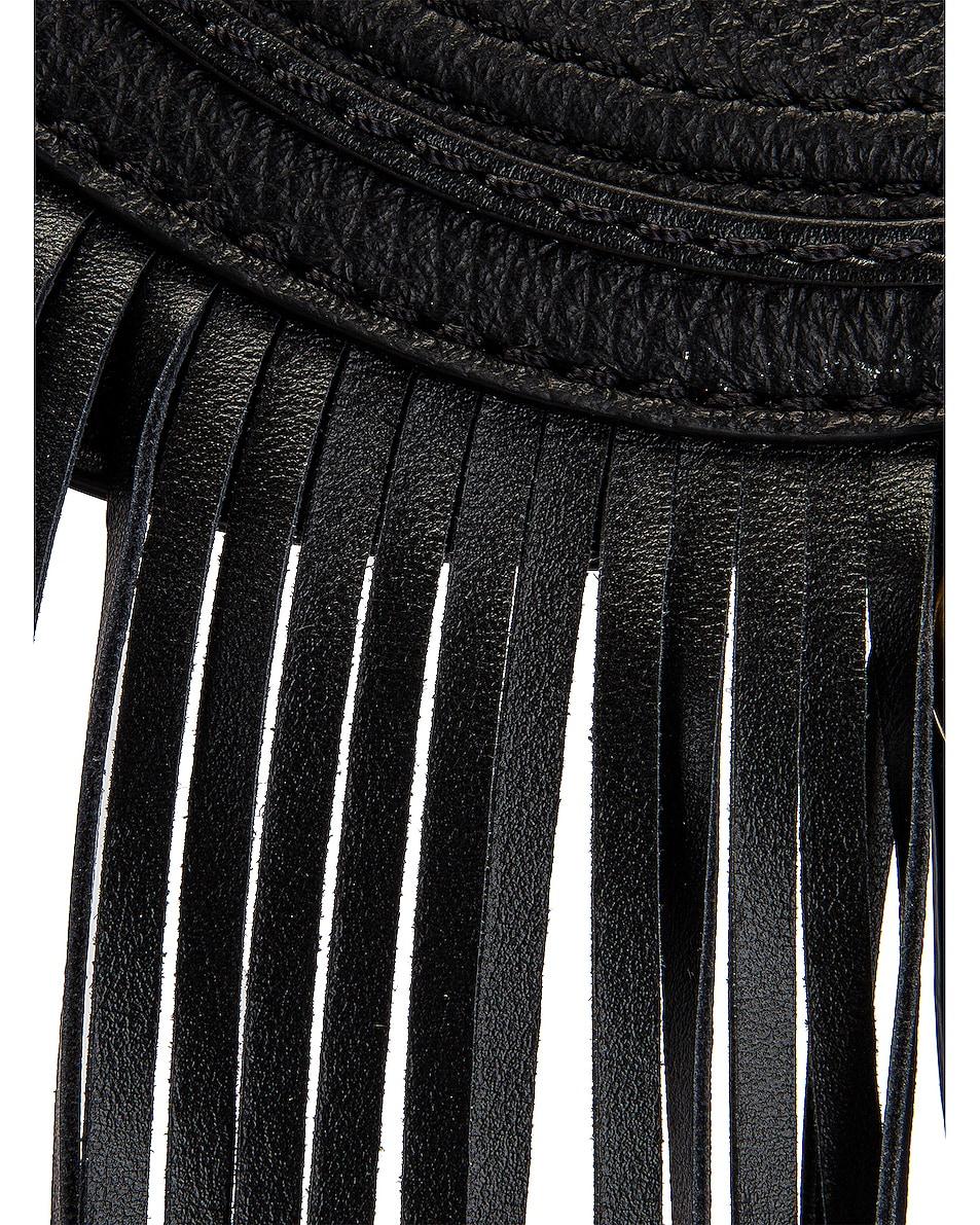 Image 8 of Chloe Small Marcie Fringe Saddle Bag in Black