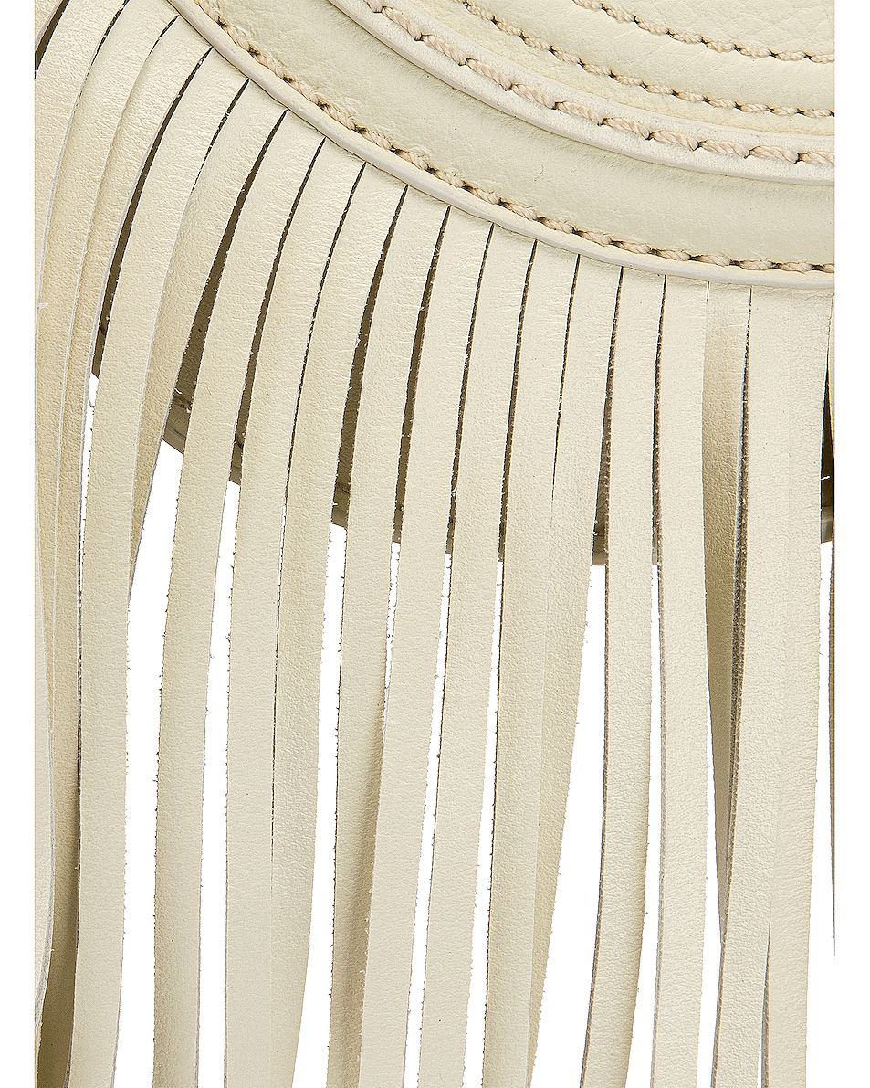 Image 8 of Chloe Small Marcie Fringe Saddle Bag in Natural White